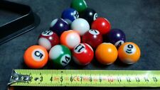 15 Mini Boules de Billard + Triangle - Belle Affaire !!!