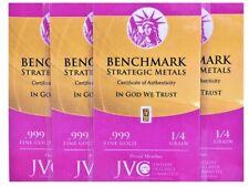 Four (4) x 1/4 Grain (1/60 Gram) Gold Bar | .999 | Volume Pricing