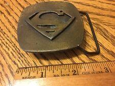 Vintage (1970s) Superman Metal Belt Buckle Lewis Buckles