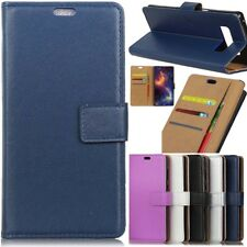 Hot Flip Wallet Magnetic Card Leather Case Cover For Samsung Galaxy Huawei Phone