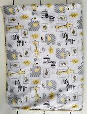 Just Born Animal Elephant Giraffe Baby Blanket Lovey Yellow Gray White Zebra