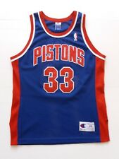Vintage Grant Hill Detroit Pistons campeón auténtico Jersey. totalmente cosida. tamaño: L