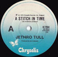 Jethro Tull ORIG OZ 45 A stitch in time NM '78 Chrysalis K7294 Prog