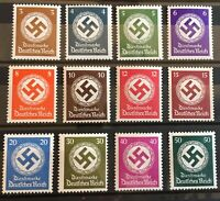 Germany 1942/44 3rd Reich Official Stamp Mi 166-77 Sc 92-103  MNH