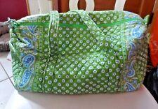Vera bradley small duffel bag in retired Green Apple Pattern