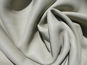 deerskin leather hide XL New Zealand Deer Bone Beige grainy texture Flawless!