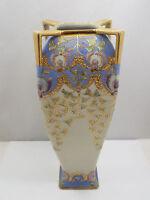 Antique Moriage Nippon Hand Painted Gold & Enamel Vase or Urn, Morimura Mark