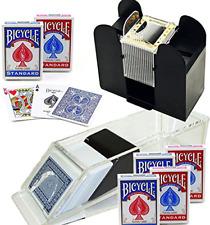 Bundle Includes 8 Items - Trademark Poker Blackjack Dealing Shoe 6-Deck and Card