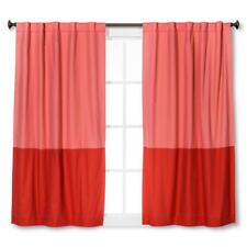 "Twill Blackout Curtain Panel - Pillowfort Pink Colorblock 42"" x 63"""