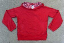 Patagonia Organic Cotton lightweight Sweat Parka Women's Sz L Red Hoodie
