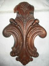 Large Antique Victorian walnut bed/cabinet cartouche carving salvage