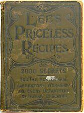 SECRET FORMULAS Antique Cookbook Farm Home Recipe Herbal Medical Cure APOTHECARY