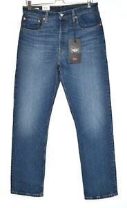 Womens Levis 501 High Rise Straight Cropped Premium Blue Jeans 12 W31 L30 NEW