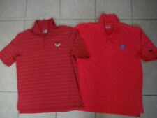 Under Armour Heat Gear Mens Golf Shirts, Loose,Lot Of 2, Both Medium, Polo Style