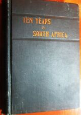Very Rare 1892 Ten Years in South Africa & East Indies Travel Book Fold-out Map