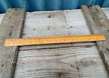Appealing Vintage Wooden Rule Ruler Imperial & Metric - 12 inch 30cm