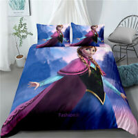 Frozen Elsa Doona/Duvet/Quilt Cover Set Single/Double/Queen/King Size Bed