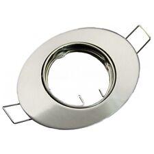 Einbaurahmen schwenkbar oval Nickel satiniert MR16 Fassung inklusive