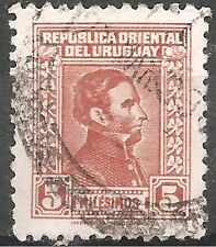"Uruguay Stamp - Scott #474/A135 5m Orange Brown ""Artigas"" Canc/LH 1937"
