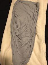 Express Small Gray Skirt Knit Knot Assymetrical Drape High Low