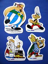 Autocollants station fina Series Asterix Obelix Panoramix Assurancetourix 1976