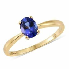 ILIANA.' Gorgeous 1ct Triple AAA Tanzanite Solitaire 18k Yellow Gold Ring