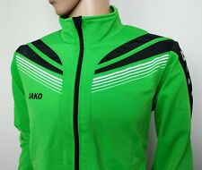 Jako Men's Track Jacket Full Zip Green Training Football Rugby Size XL New