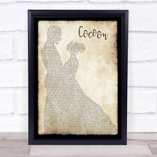 Cocoon Man Lady Dancing Song Lyric Print