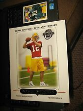 2005 topps jumbo 8x10 aaron rodgers rookie green bay packers california rc