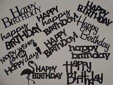 10 Birthday sentiments greeting card scrapbook die cuts