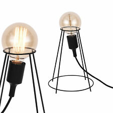 [lux.pro]® Lampe de table design Métal Noir Look industriel