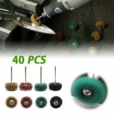 40X Abrasive Wheel Buffing Polishing Wheel Set For Dremel Rotary Tool Drill Bit