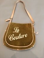 """JUICY COUTURE """"La Couture""""  ,Tan Pink Leather CROSSBODY,MESSENGER Bag"""