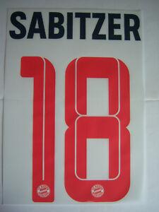FC Bayern München orginal Flock Sabitzer 18 Champions League 2021/22Gr.128bis152