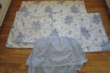 5 PC LAURA ASHLEY SOPHIA 2 QUILTED PILLOW SHAM 1 STANDARD TWIN BED SKIRT VALANCE