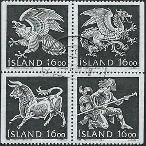 Iceland - Beautiful Block of 4, #656 - 659..............02N..........R-703