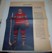 Dave Balon # 8 Weekend  Magazine Photos 1963-64  Toronto Star lot 4