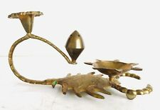 Nice Unique Scorpion Shape Vintage Hand Made Brass Incense Burner Candle Holder