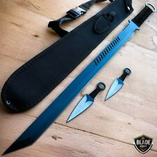 "27"" BLACK NINJA SWORD Full Tang Machete Tactical Blade Katana Throwing Knife NEW"