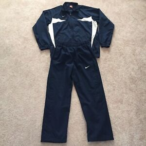 NIKE TEAM Wind Suit Jacket & Pants Black with White Detail Nike Fit Storm L/XL