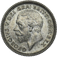 1926 SIXPENCE - GEORGE V BRITISH SILVER COIN - V NICE