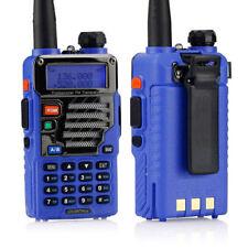 2x Baofeng UV-5R Plus Qualette Series Blue 136-174/400-520 MHz Ham Two-way Radio