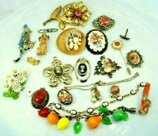LOT Vintage Craft Repurpose Jewelry Some signed W.Germany