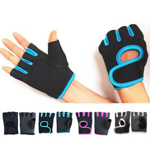 Sport Fitness Cycling Gym Half Finger Weightlifting Gloves Training Workout New