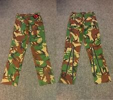 Green/Woodland/Army Camo/Camouflage Zip/Punk/Rock/Festival Trousers/Jeans W32