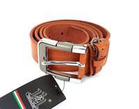 ds Cinta Cintura Uomo Pelle Marrone A-019 Elegante Glamour Fashion Alla Moda hac