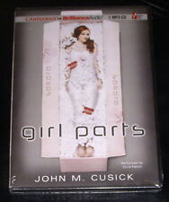 GIRL PARTS by John M Cusick (Audio Book, MP3-CD Unabridged) Ages 15+ *BRAND NEW*