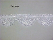 """White 1-5/8"""" Shiny SATIN STAR Venise Venice LACE Doll Clothes Lingerie BTY"""