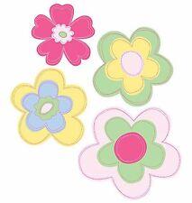 Flowers Pink 25 Wallies Wall Art Sticker Decor Girls Floral Decal Border Green