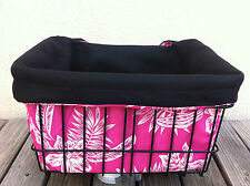 BICYCLE BASKET LINER PINK HAWAIIN FLOWER NEW !